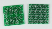5mm (left) and 3mm (right) Panels LED array PCBs